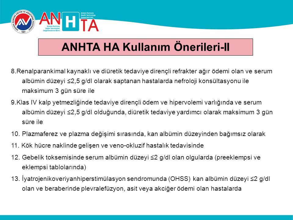 ANHTA HA Kullanım Önerileri-II