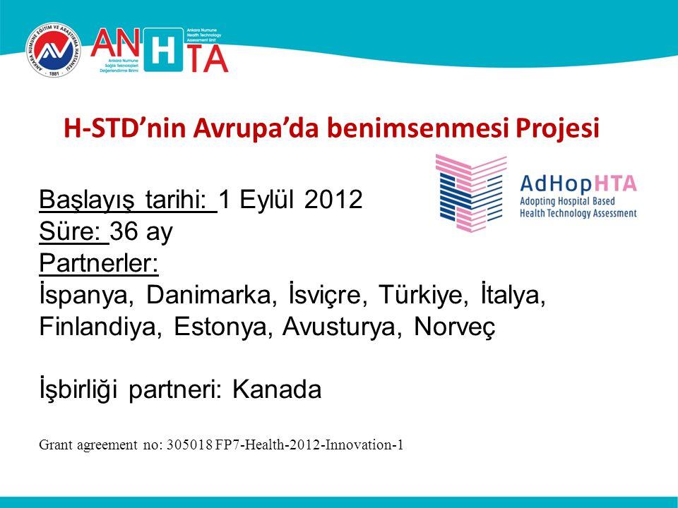 H-STD'nin Avrupa'da benimsenmesi Projesi