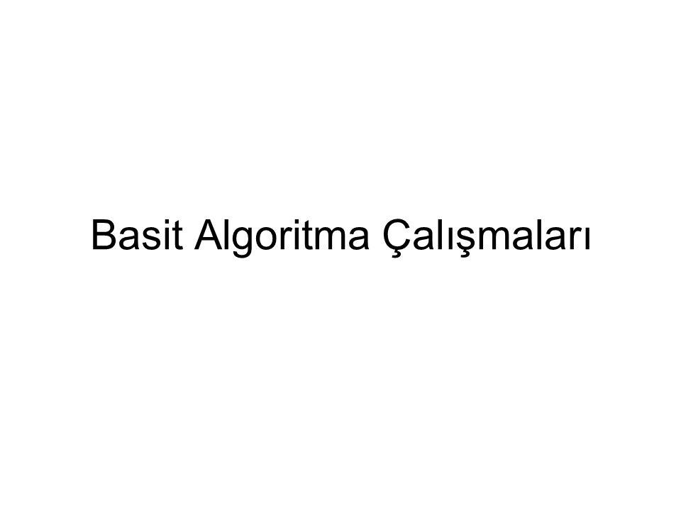 Basit Algoritma Çalışmaları