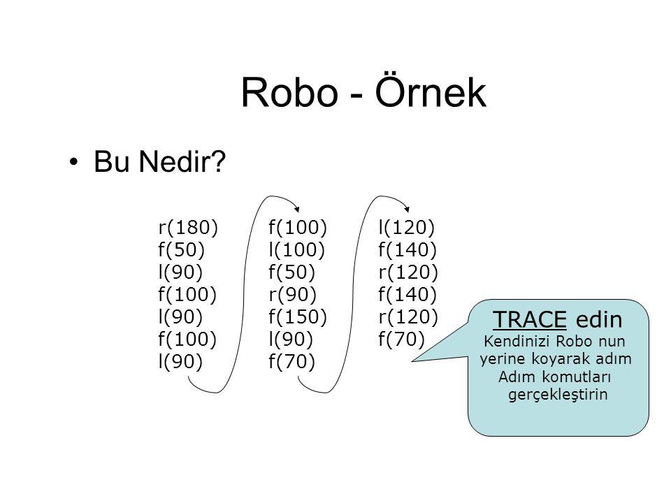 Robo - Örnek Bu Nedir TRACE edin r(180) f(50) l(90) f(100) l(100)