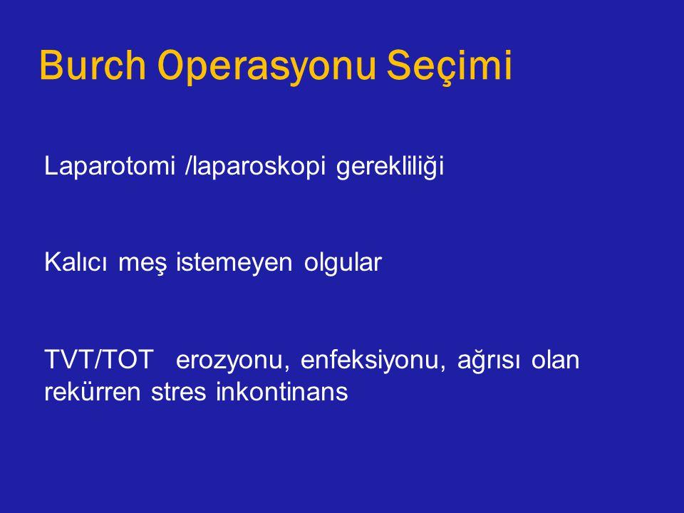 Burch Operasyonu Seçimi