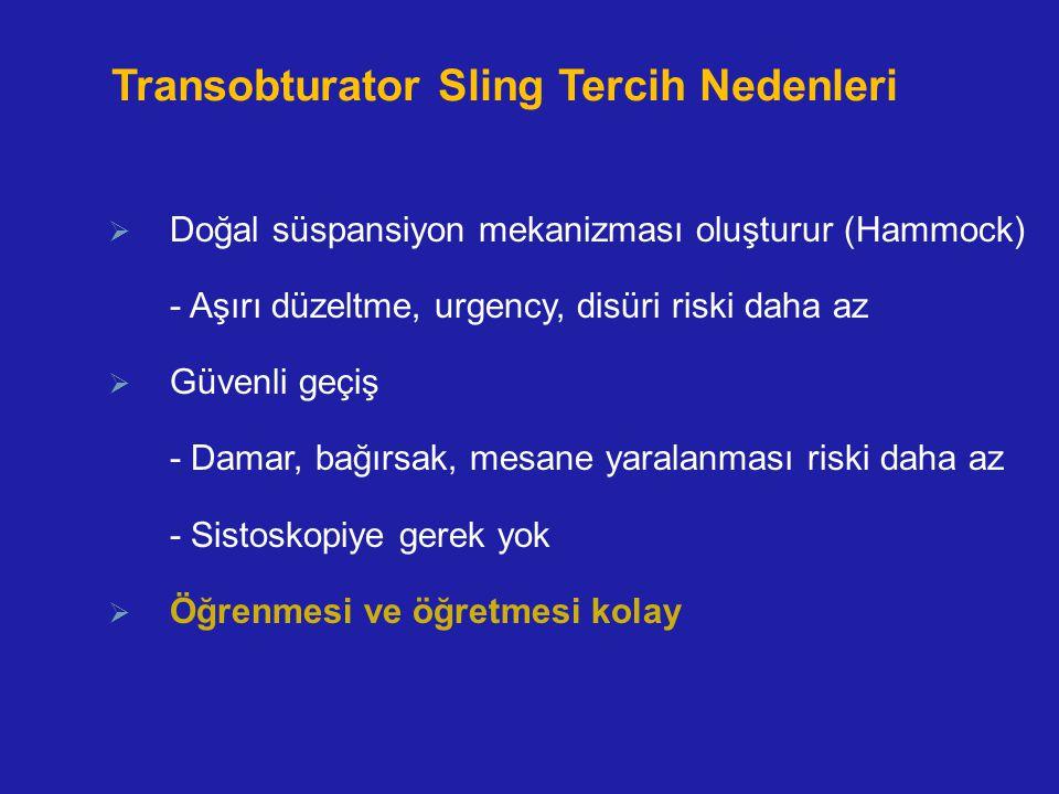 Transobturator Sling Tercih Nedenleri