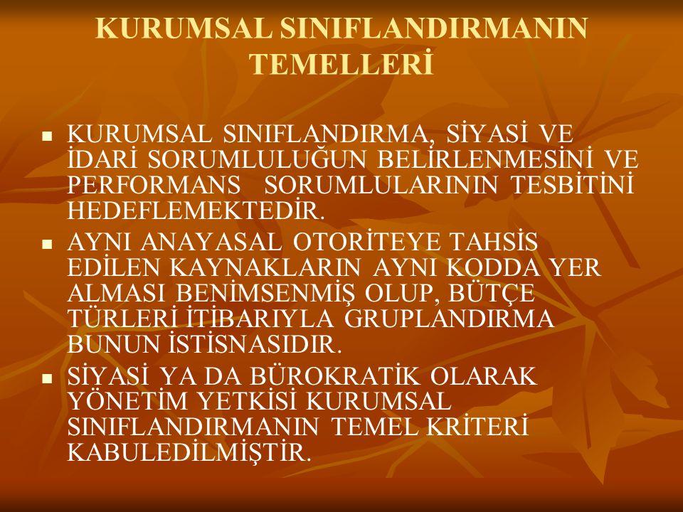 KURUMSAL SINIFLANDIRMANIN TEMELLERİ