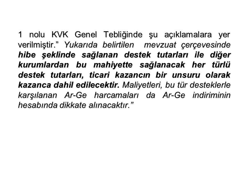 1 nolu KVK Genel Tebliğinde şu açıklamalara yer verilmiştir