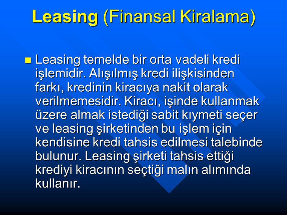 Leasing (Finansal Kiralama)