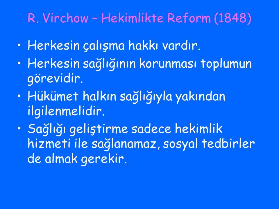 R. Virchow – Hekimlikte Reform (1848)