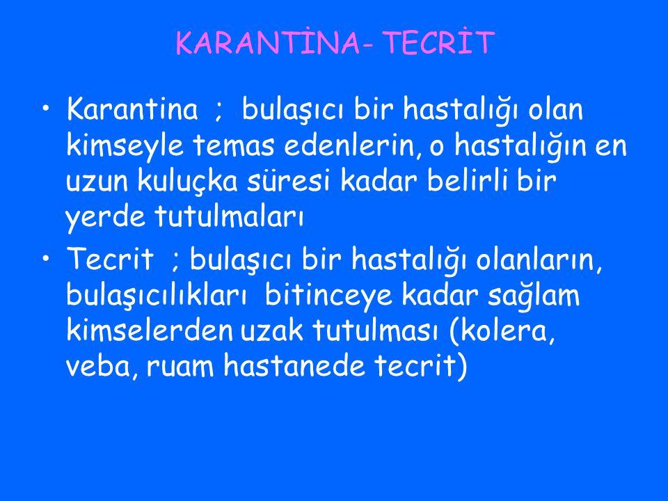 KARANTİNA- TECRİT