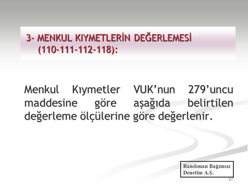 3- MENKUL KIYMETLERİN DEĞERLEMESİ (110-111-112-118):