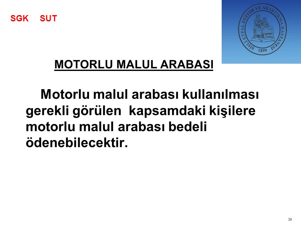 SGK SUT MOTORLU MALUL ARABASI.