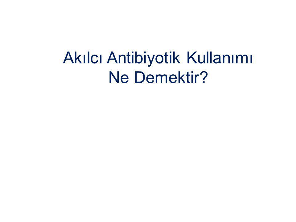Akılcı Antibiyotik Kullanımı Ne Demektir
