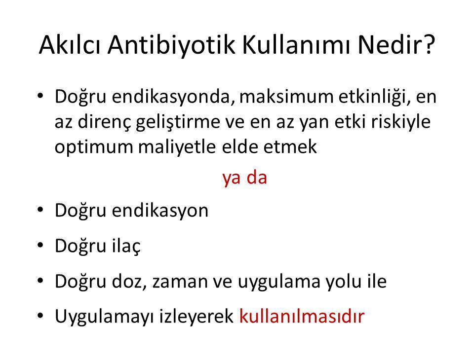 Akılcı Antibiyotik Kullanımı Nedir