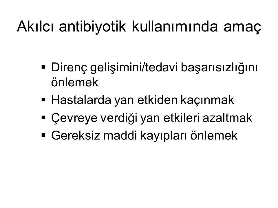 Akılcı antibiyotik kullanımında amaç