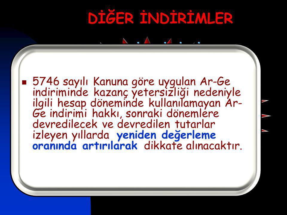 DİĞER İNDİRİMLER AR-GE İNDİRİMİ (5746)