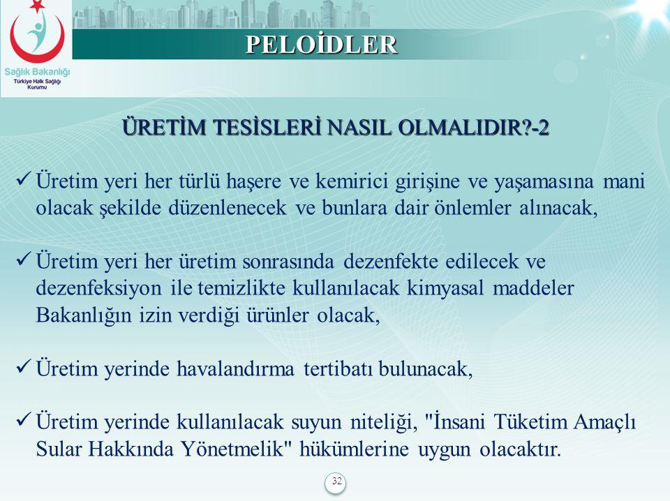 ÜRETİM TESİSLERİ NASIL OLMALIDIR -2