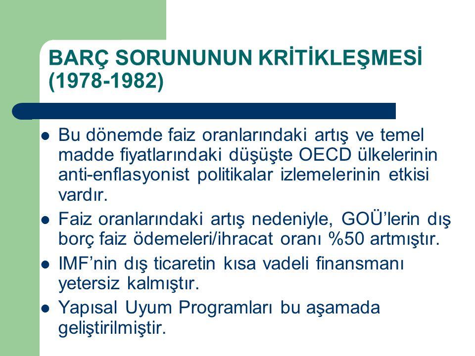 BARÇ SORUNUNUN KRİTİKLEŞMESİ (1978-1982)