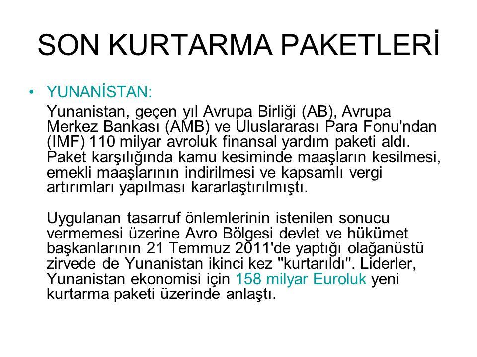 SON KURTARMA PAKETLERİ