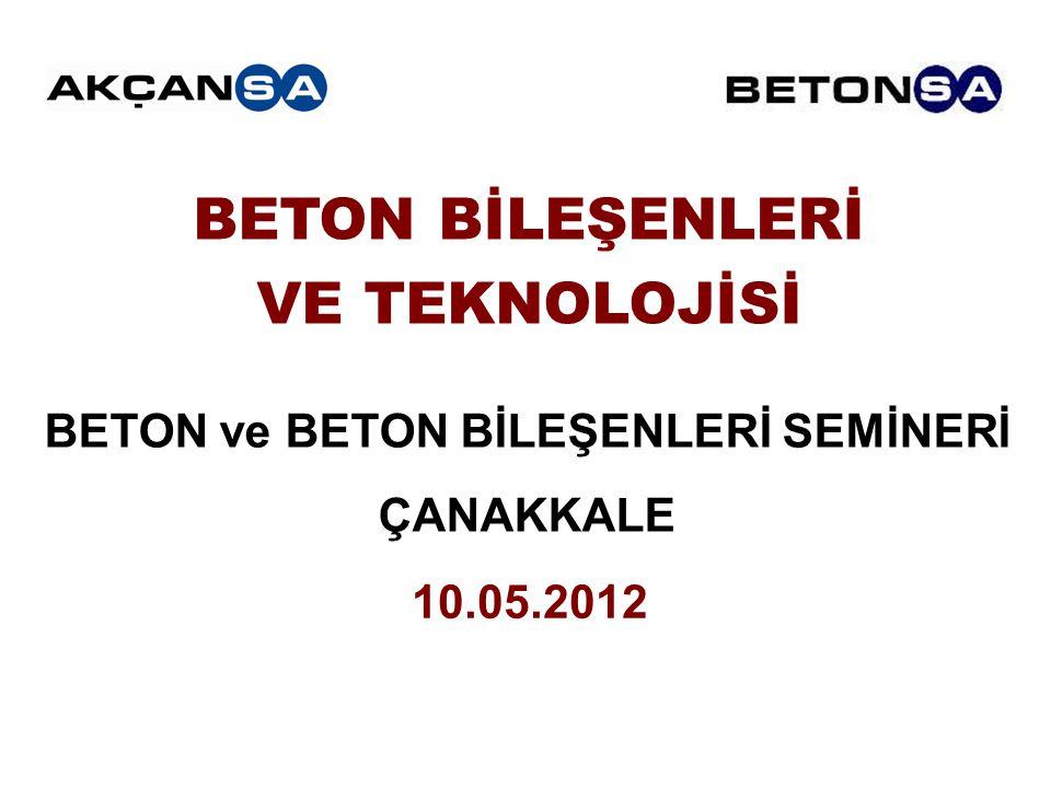 BETON ve BETON BİLEŞENLERİ SEMİNERİ