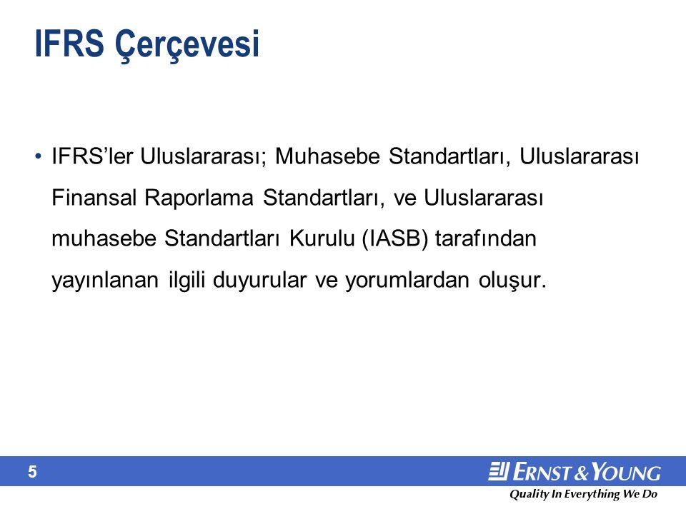 IFRS Çerçevesi (devamı)