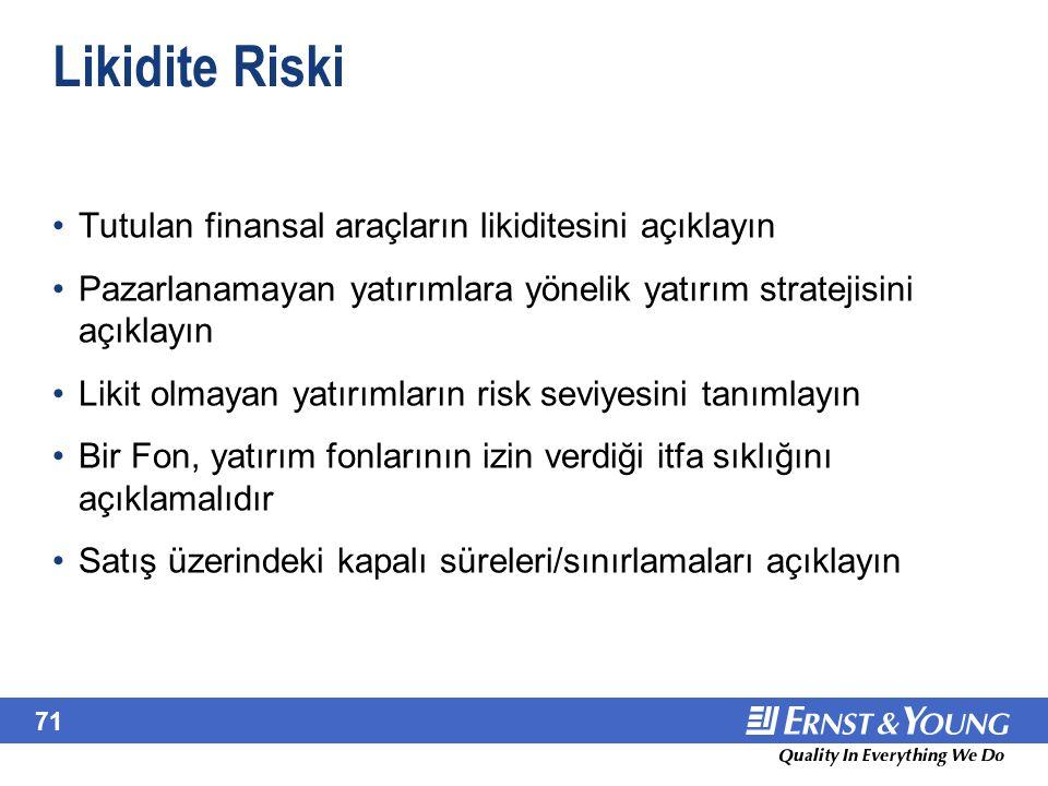 Kur Riski Diğer kurlara maruz kalınan riski açıklayın