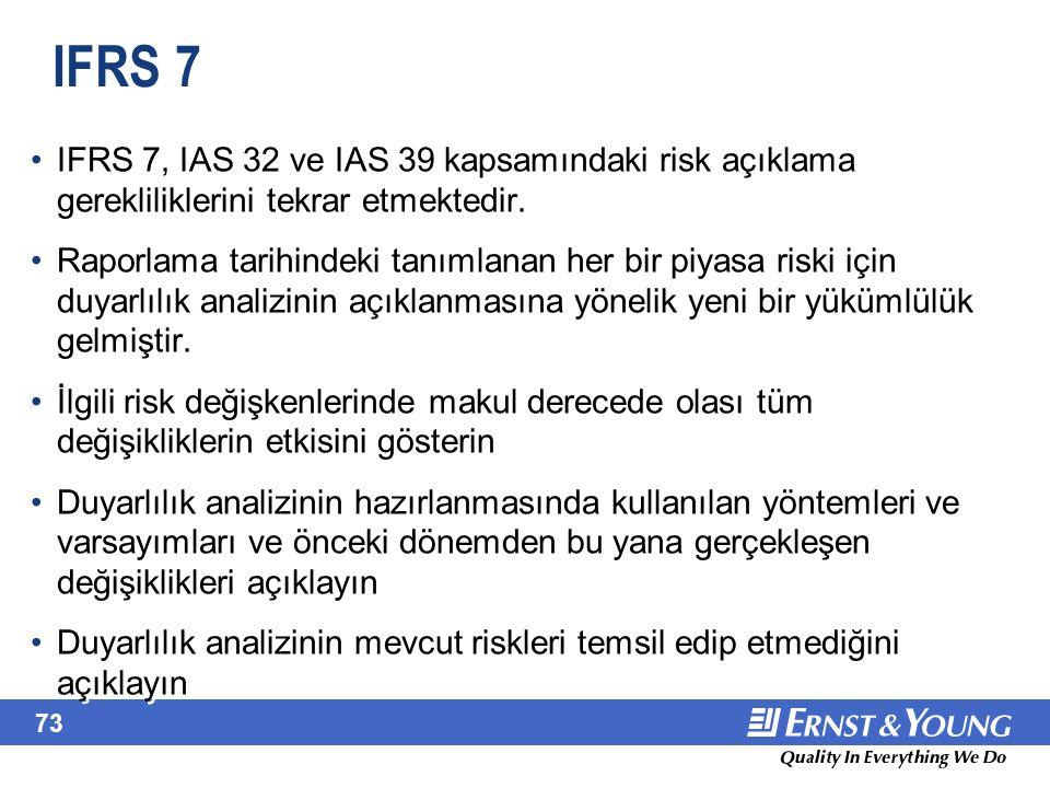 June 22, 2001 IFRS 7 (devamı) IFRS 7, 1 Ocak 2007 tarihinde veya 1 Ocak 2007 tarihinden sonra başlayan dönemler için geçerlidir.