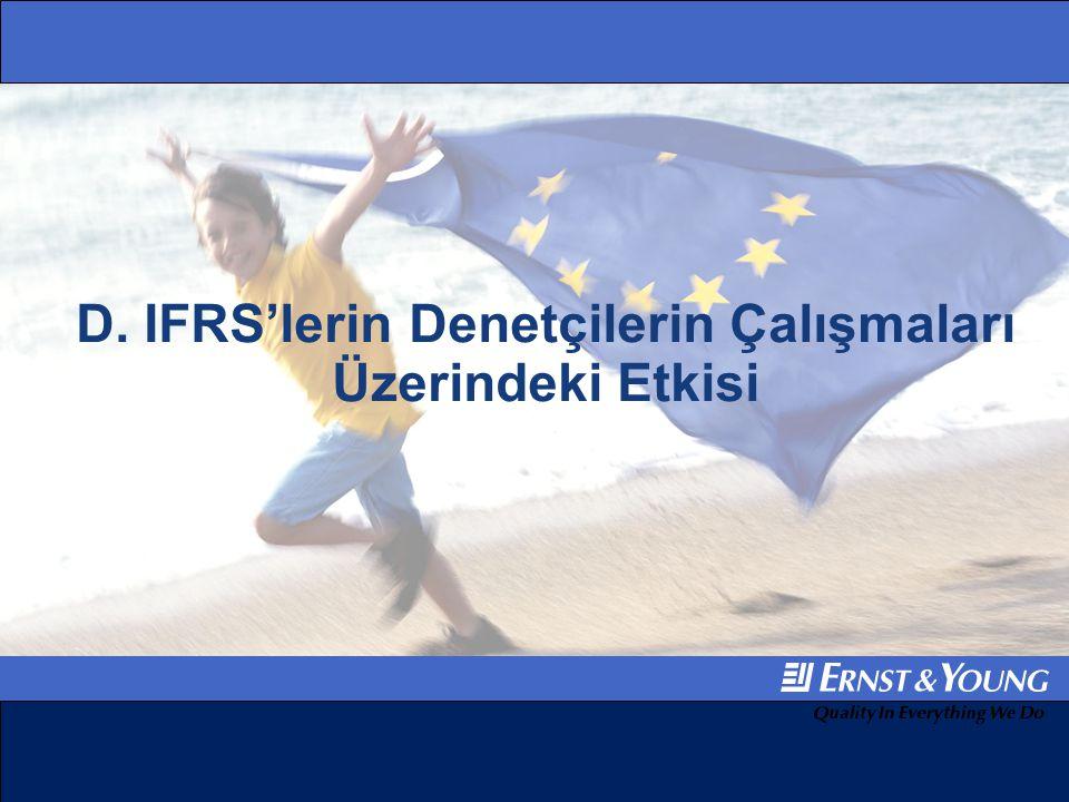 IFRS'lerin Denetçilerin Çalışmaları Üzerindeki Etkisi