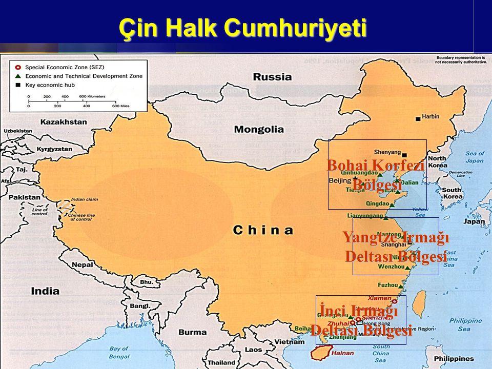 Çin Halk Cumhuriyeti Bohai Korfezi Bölgesi Yangtze Irmağı