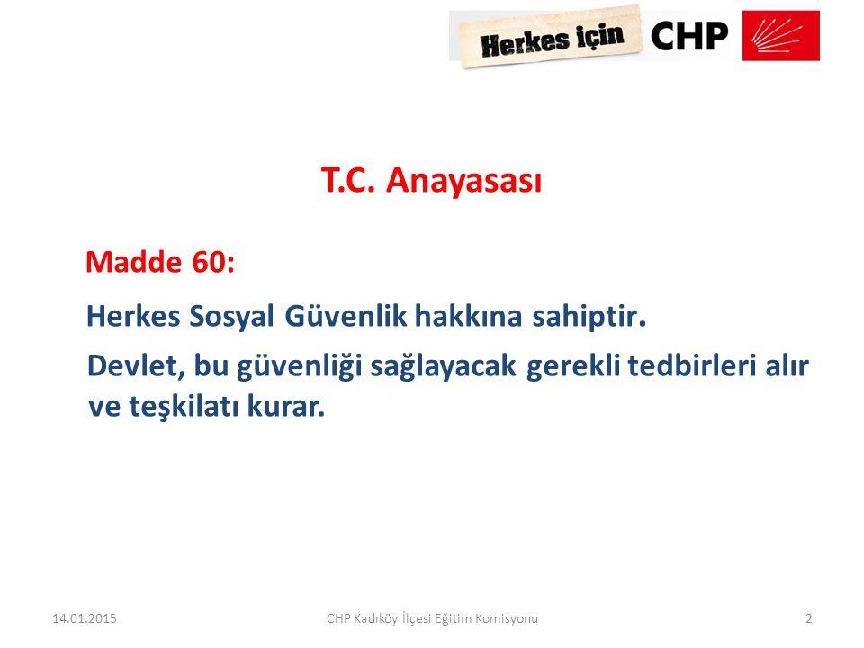CHP Kadıköy İlçesi Eğitim Komisyonu