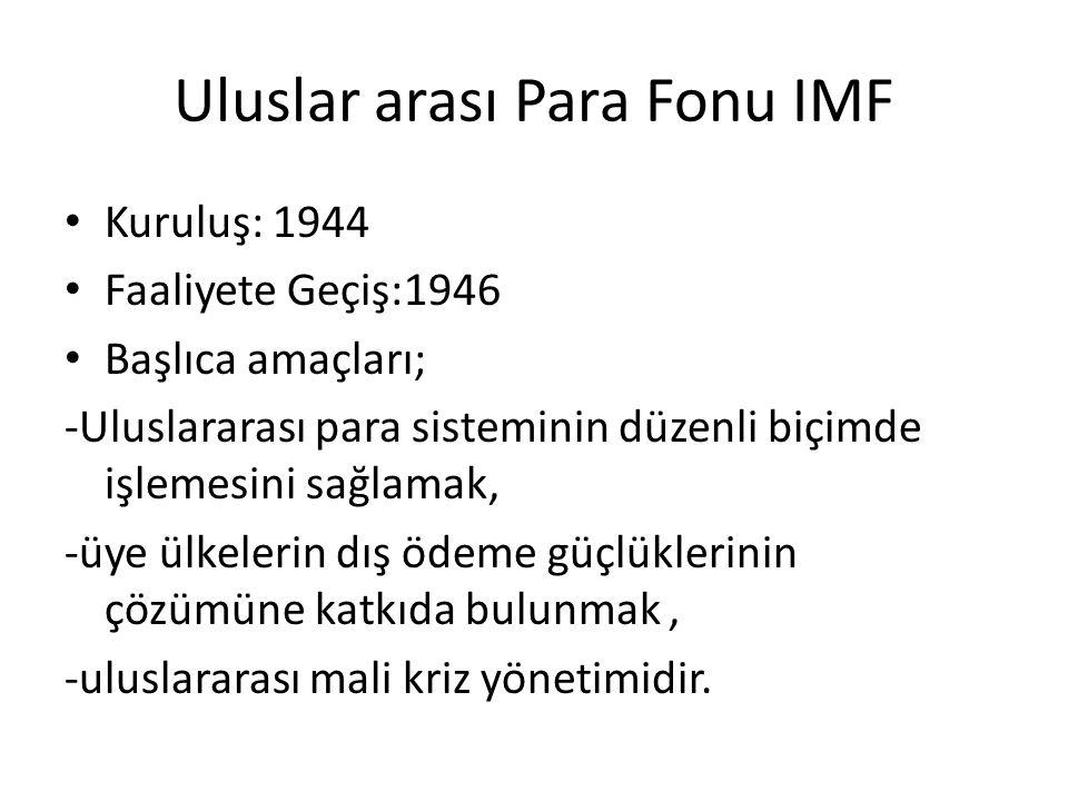 Uluslar arası Para Fonu IMF
