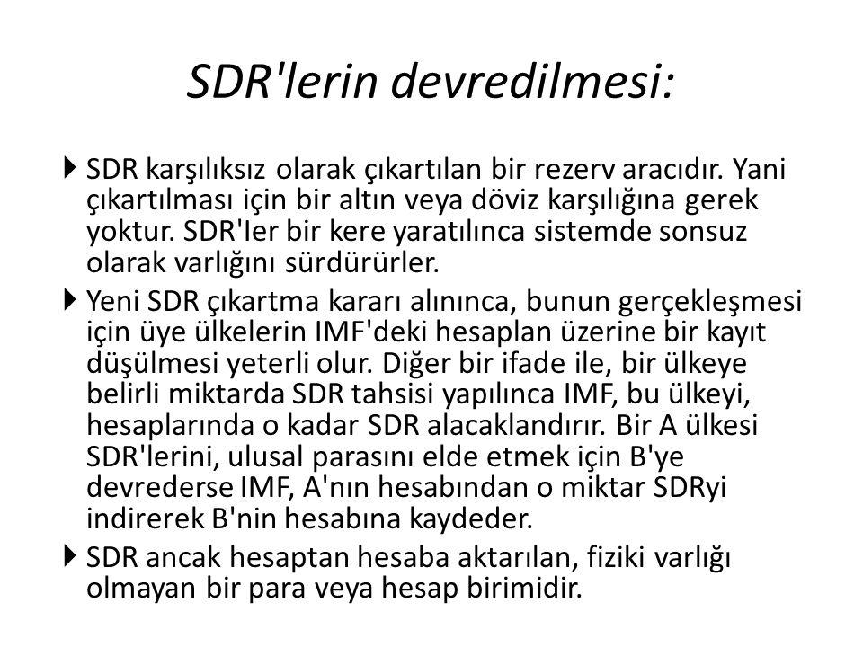 SDR lerin devredilmesi: