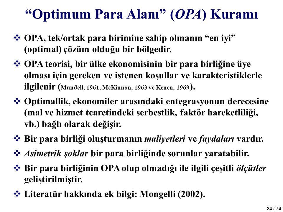 Optimum Para Alanı (OPA) Kuramı
