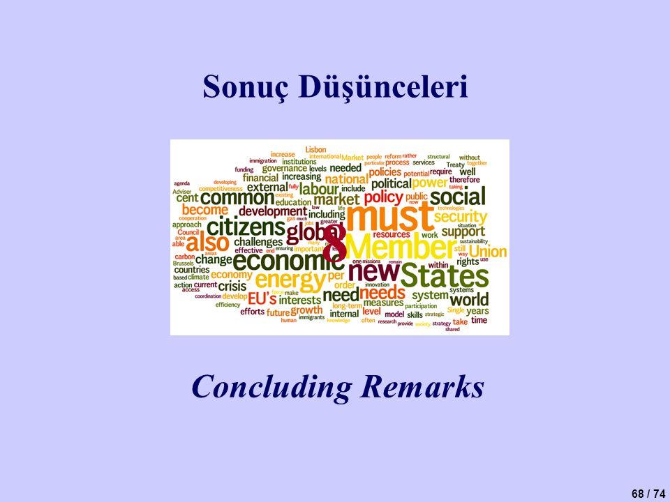 Sonuç Düşünceleri 8 Concluding Remarks