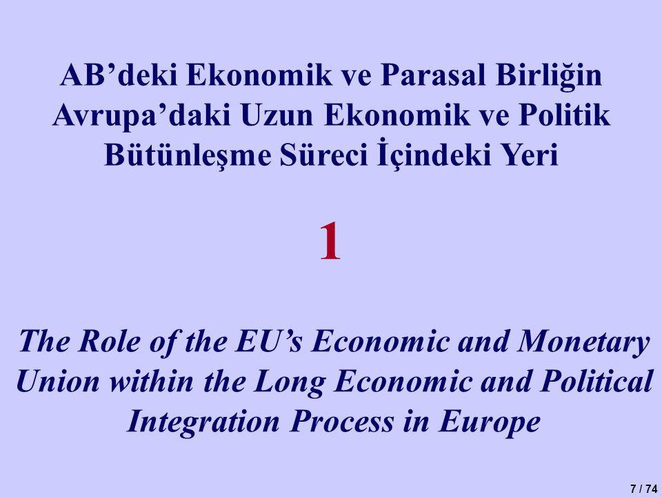 1 AB'deki Ekonomik ve Parasal Birliğin