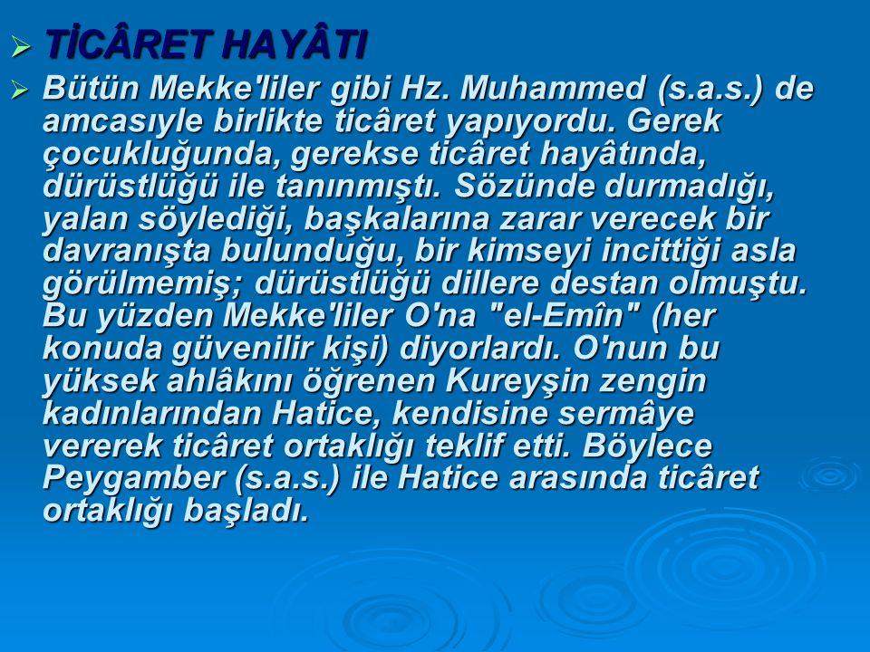 TİCÂRET HAYÂTI