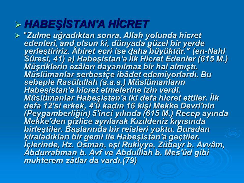 HABEŞİSTAN A HİCRET