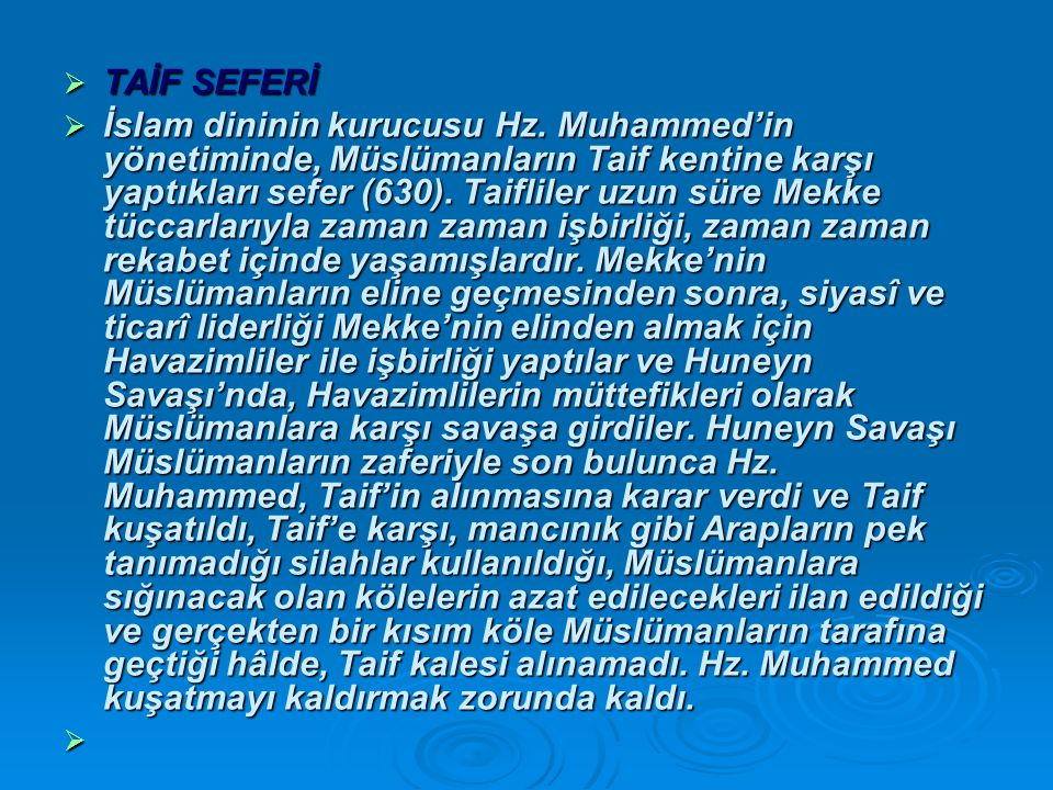 TAİF SEFERİ
