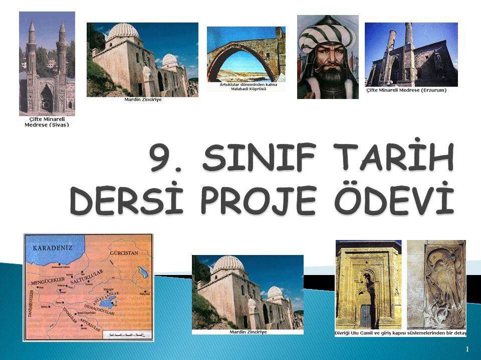 9. SINIF TARİH DERSİ PROJE ÖDEVİ