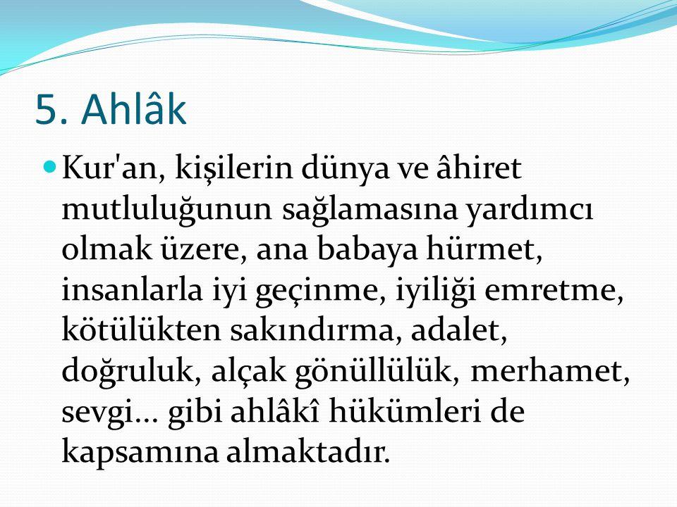 5. Ahlâk