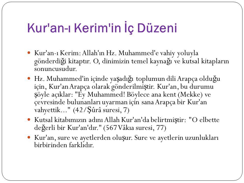 Kur an-ı Kerim in İç Düzeni