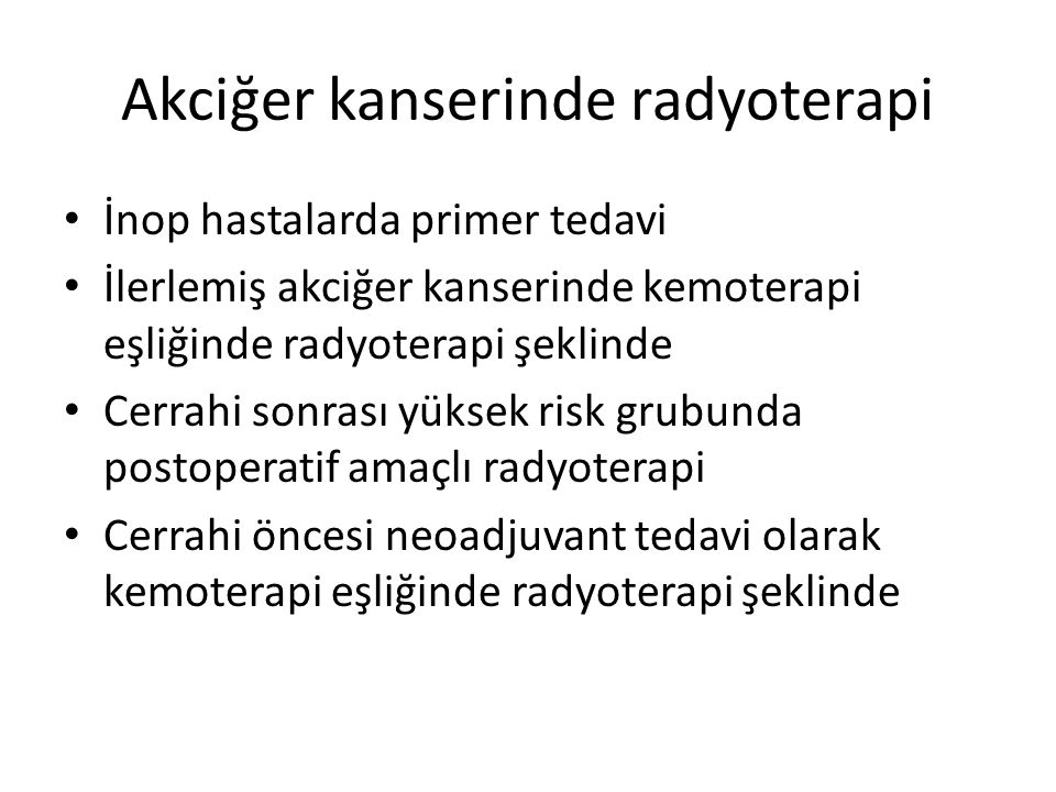 Akciğer kanserinde radyoterapi