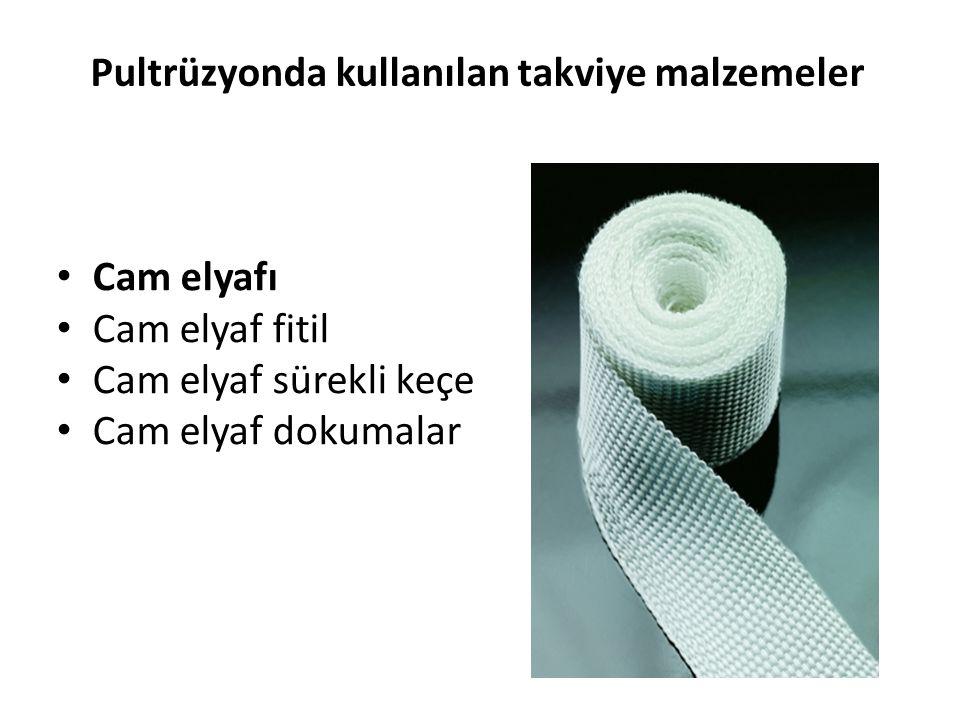 Pultrüzyonda kullanılan takviye malzemeler
