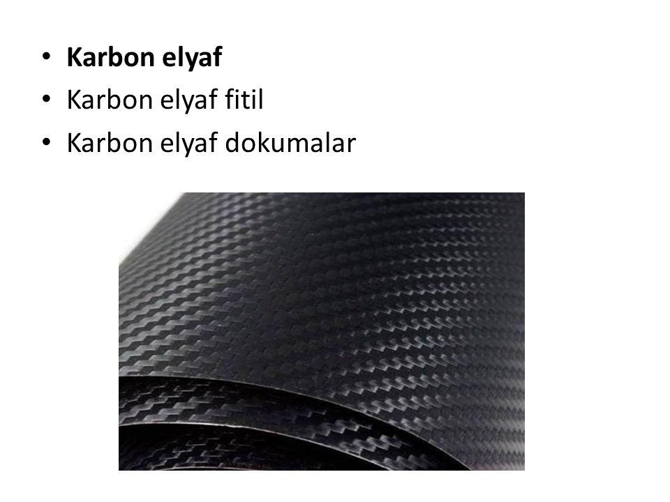 Karbon elyaf Karbon elyaf fitil Karbon elyaf dokumalar