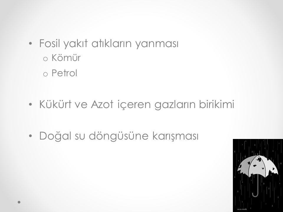 Fosil yakıt atıkların yanması