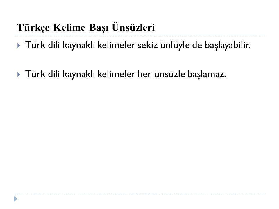 Türkçe Kelime Başı Ünsüzleri