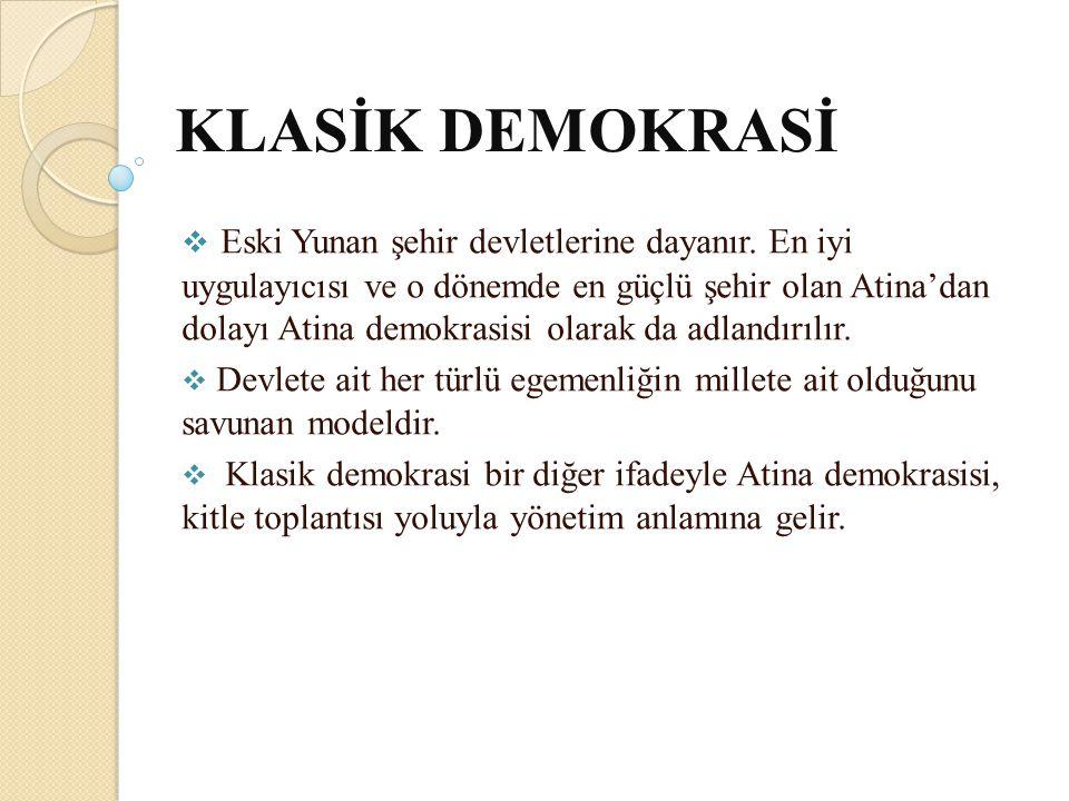 KLASİK DEMOKRASİ