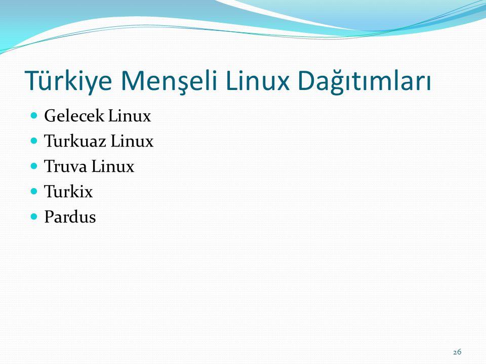 Türkiye Menşeli Linux Dağıtımları
