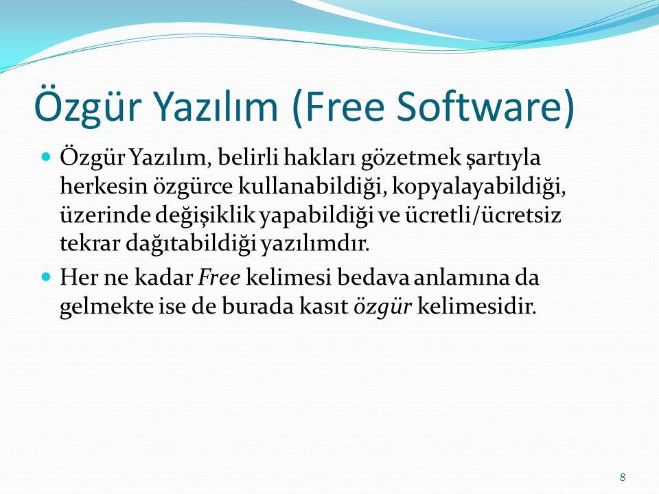 Özgür Yazılım (Free Software)
