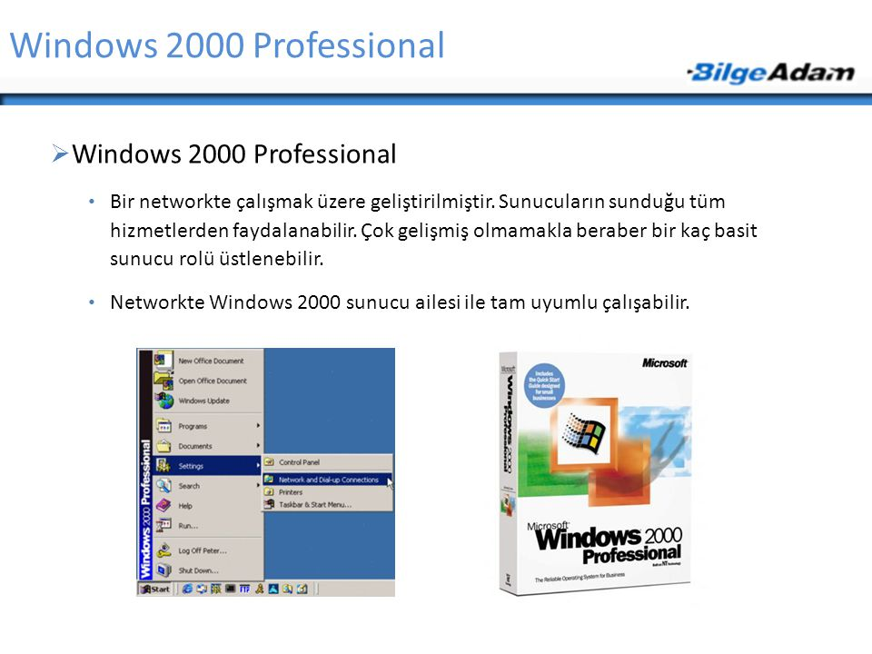Windows 2000 Professional Windows 2000 Professional