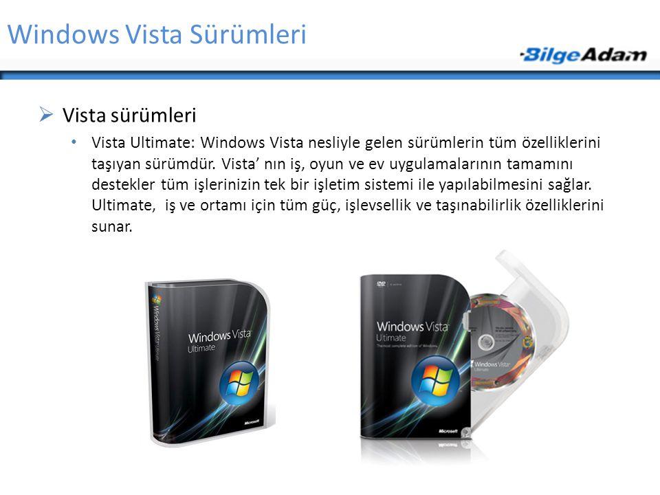 Windows Vista Sürümleri