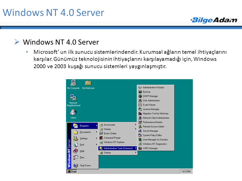 Windows NT 4.0 Server Windows NT 4.0 Server