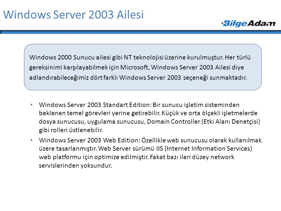 Windows Server 2003 Ailesi